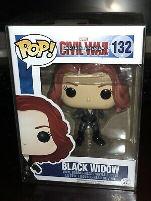 Funko POP! Black Widow #132 Marvel Captain America Civil War End Game VAULTED