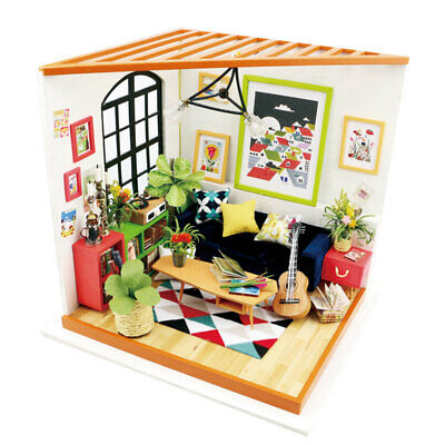 Robotime DIY Dollhouse with Furniture Sitting Room Toy Gift for Adult Kids Women