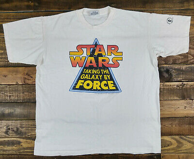 Vintage STAR WARS 1994 Taking the Galaxy by Force Dark Horse Comics T-Shirt XL