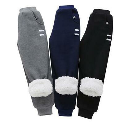 Kids Boys Girls Fleece Lined Sweatpants Sports Jogging Pants Joggers Bottom New