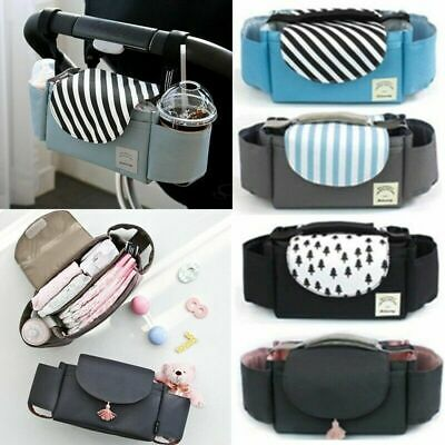 Stroller Bag Baby Organiser Mummy Bag Buggy Stroller Pram Pushchair Cup Holder