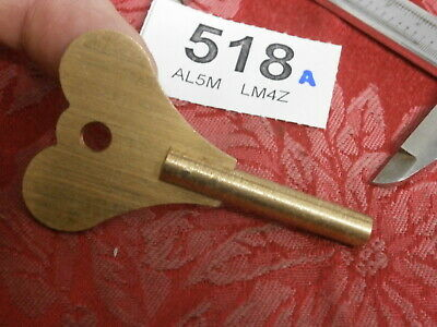 Clock KEY 4.25 mm Fusee Heart handle wall mantle bracket parts spares 518A