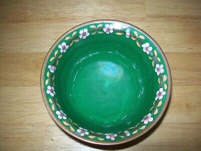 "Marked Old Chinese 5"" CLOISONNE BOWL/CUP with FLOWERS and FINE DETAIL"