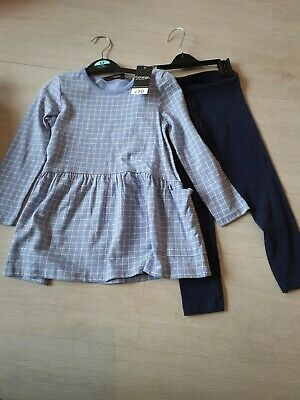 "Bnwt Age 3_4 Years Girls ""George"" Top & Leggings Outfit"