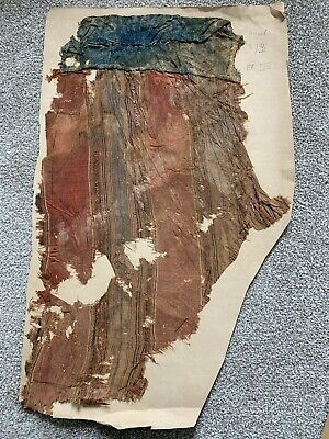 Large Ancient Mamluk Egyptian Silk Textile Fragment Very Rare Ca 13 C Antique