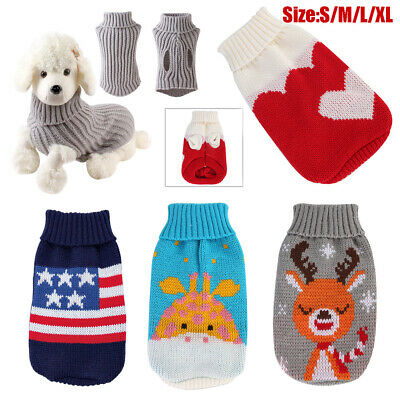 2019 XMAS Cute Knitted Dog Jumper Pet Clothes Sweater For Small To Medium Dogs