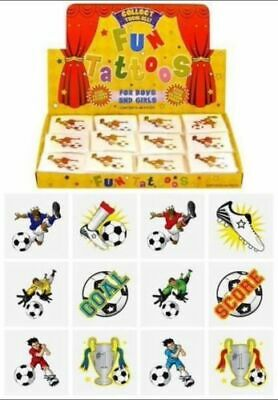 FOOTBALL Temporary Tattoos Boys Kids Party Loot Bag Fillers  Choose Quantity