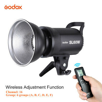 Godox SL-60W 5600K 60W HighPower Wireless LED Video Light with Bowens Mount H9E1