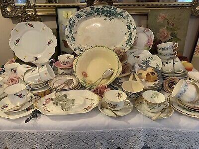Joblot Vintage China Cups Plates Christmas Cafe Party Wedding Events PICKUP ONLY
