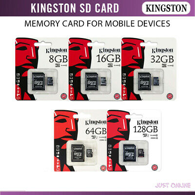 Kingston Micro SD Card TF Flash Mobile Phone SDHC Memory Card with SD Adapter