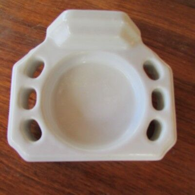 Porcelain White  Bathroom Wall Mount Six  Toothbrush Cup Holder Vintage