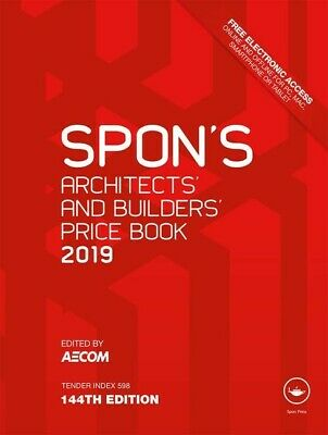 Spon's Book Architects and Builders Price Book 2019 [PDF Dispatch]