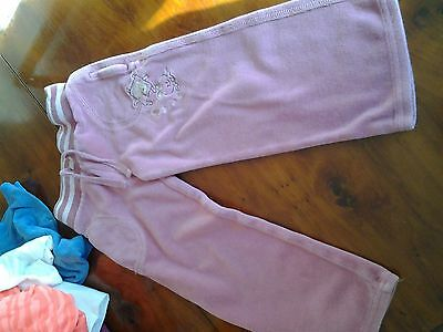 Girls Pink Velour Type Trousers. NEXT. Age 3 Years.