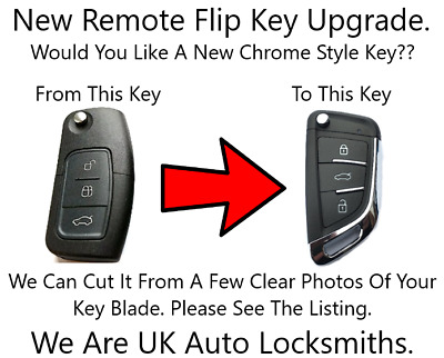 New Remote Flip Key Fob Upgrade NO Chip 433Mhz Fits Ford Fiesta Mondeo C Max