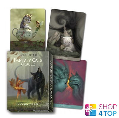Barbieri Fantasy Cats Oracle Deck Cards Esoteric Fortune Telling Lo Scarabeo New