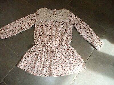 Girls Tunic Dress Next Age 9 Poly/Linen Lovely Non Smoke House Cream