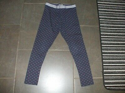 Girls Next Leggings Age 11 Non Smoke House Cotton Elastain Perfect Navy Blue