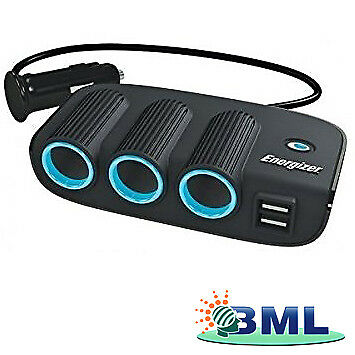 Triple Socket Adaptor And Twin Usb 12V Brand- Energizer. Part 50505Fd
