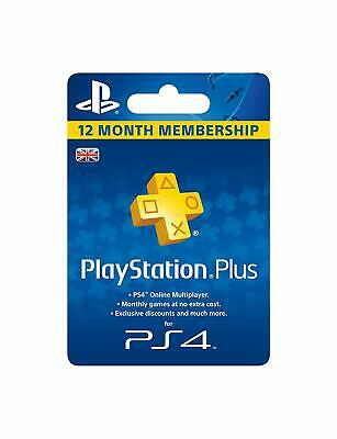 Sony PlayStation Plus 12 Month Membership - UK