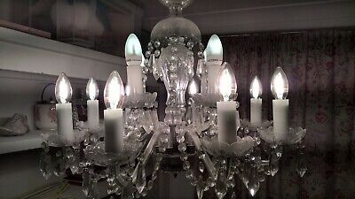 Chandelier lead crystal original 1930 s beautiful item with new bulbs