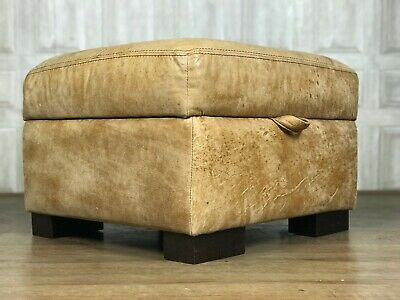 Superb Dfs Brown Leather Seat Storage Pouffe From The Supreme Gmtry Best Dining Table And Chair Ideas Images Gmtryco