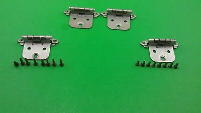 4 Old-Fashioned Yellow Cabinet Door Hinges With Screws