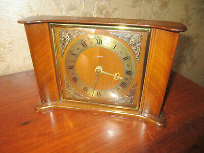 Smiths Tempora Wooden Mantle Clock 8 Day Floating Balance