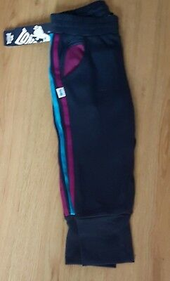 Lonsdale  London 3/4 Trousers Age 7-8 Years Navy Blue And Purple Stripe