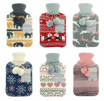 On Trend Jacquard Hot Water Bottle Thermotherapy  Knitted Jumper Design