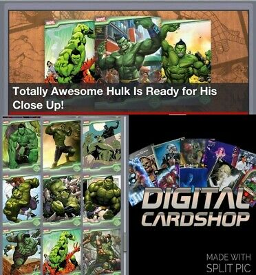 Topps Marvel Collect Card Trader  TOPPS SHOWCASE Hulk Complete 11 Card Set