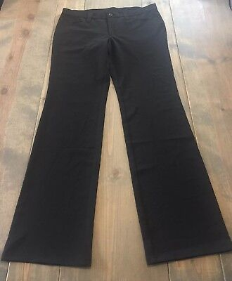 United Colors Of Benetton Women's Solid Black Flare Tall Career Pants  Size: 12