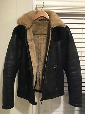 ZARA Faux Fur F/W 2018 Black Jacket size Medium - USED BUT VERY GOOD CONDITION