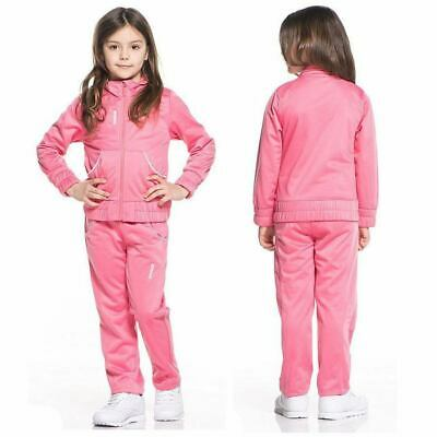 Girls Reebok Pink Tracksuit Set Sports Track Jacket Trousers Bottoms Age 13-14Y