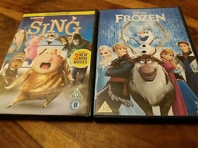 Disney Frozen & Sing Special Edition - UK R2 DVD Collection VGC