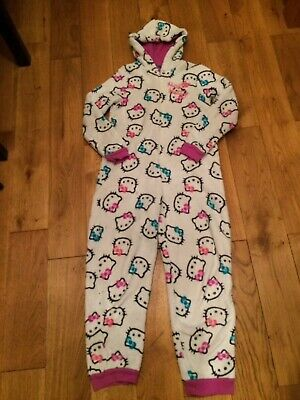 Hello Kitty Marks and Spencer all in one pyjamas for girl age 9-10. Fleecy. Cute