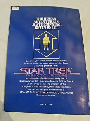 Star Trek Graphics Book with peel-off decals First edition from Oct 1979