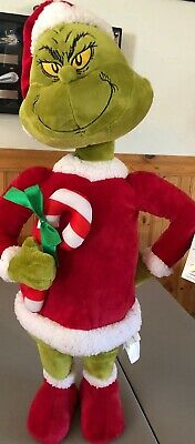 """THE GRINCH WHO STOLE CHRISTMAS PLUSH porch DOOR GREETER NEW 24"""""""