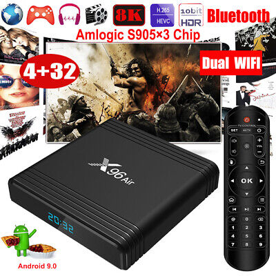 X96 Air 8K Android 9.0 4+32G Dual WIFI BT TV BOX HDMI2.1 USB3.0 Media Streamer