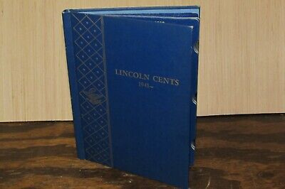 Vintage Whitman 1941- LINCOLN CENTS Coin Collections Album/Folder #9406
