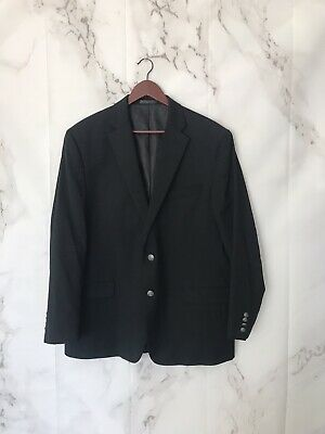 Michael Kors Mens Blazer Jacket Size 46R Black Wool Blend Two Button Closure