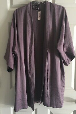 VICTORIA'S SECRET 10895252 Soft Purple Kimono Satin Robe Women's M/L NWT $52