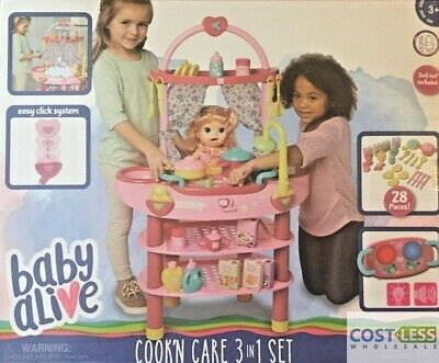 Baby Alive 3-in-1 Cook N Care Play Set