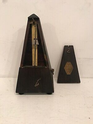 Vintage Seth Thomas Clock METRONOME de Maelzel Wood Wind Up Music Timer Tool
