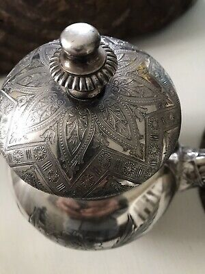 Beautiful Aesthetic Period 1870's Silver Plated Southington & Co. Pitcher