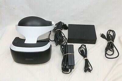 Sony Playstation 4 PS4 VR PSVR Headset Bundle w/ Cables (No Controllers Or Eye)