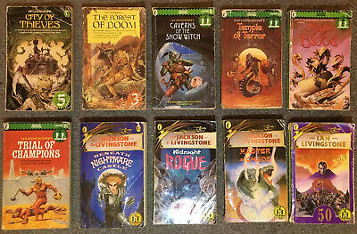 FIGHTING FANTASY collection: MIXED LOT in ACCEPTABLE to POOR condition