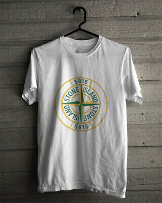New Stone Island Logo Limitied Edition white TShirt Size S-5XL t-shirt
