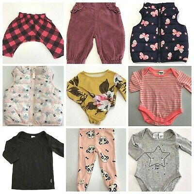 Baby Girls Size 000 Lot Tiny Little Wonders Kids & Co Bonds Baby Berry #G183