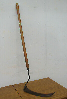 Old Vintage, Long Handle Scythe, 40Cm Long Blade.  Collectible