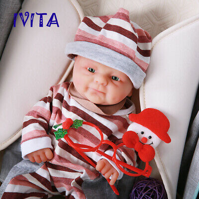 14'' Full Body Silicone Reborn Doll Cute Baby GIRL Christmas Gift 1600g